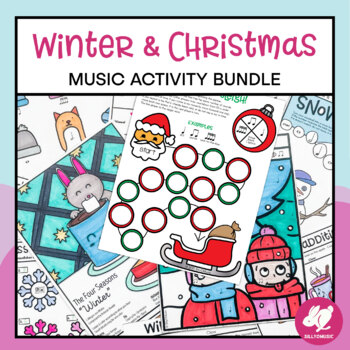 Winter & Christmas Music Worksheets & Activities Bundle by SillyOMusic