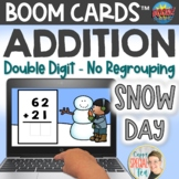 Double Digit Addition without Regrouping Activity Snow Day