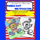 Double-digit Multiplication Color by Answer Differentiated Fun Page