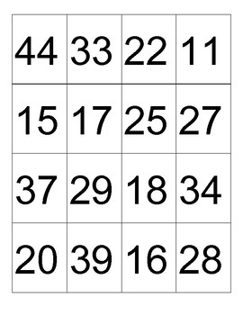Double digit Subtraction 4 in a row game