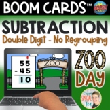 Zoo Day Double-digit Subtraction No Regrouping Digital Tas