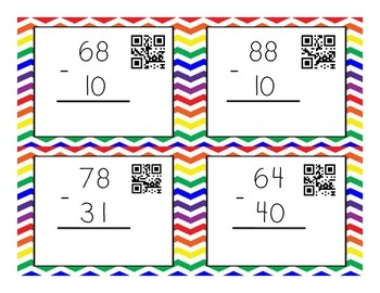 Double digit subtraction with QR Codes!