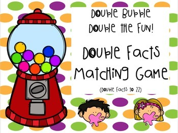 Double digit fact cards to 22