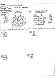 Double digit multiplication worksheet with lattice and par