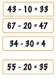 Double Digit Subtraction Cards