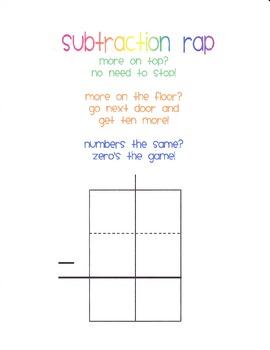 Double digit subtraction workmat