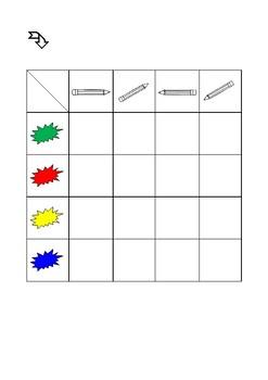 Double entry table & Back to school - Tableau à double entrée & Ecole