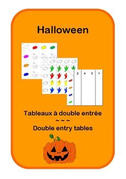 Double entry table - Halloween - Tableau à double entrée