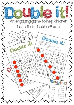 Double it! Maths doubles game