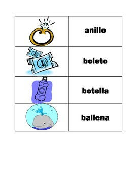 Double ll  and y vocabulary practice