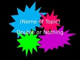 Double or Nothing Review Game Template