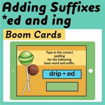 Double the Consonant & Drop Silent e Boom Cards