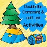 Double the Consonant and add -ed Task Cards and Center