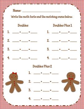 Double the Gingerbread: Doubles, Doubles Plus 1, Doubles Plus 2