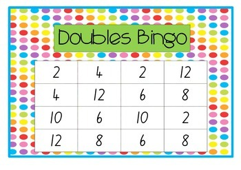 Double the Number Bingo Game
