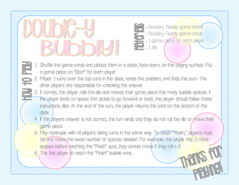 #SummerSale Double-y Bubbly Doubles Facts Math Center Game