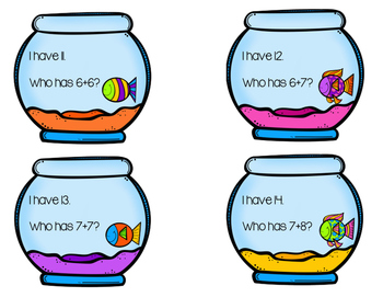 Doubles +1 Addition Fish Bowl Task Cards