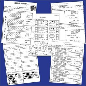 Doubles + 1 - worksheets, posters and games