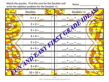 Doubles +1 Doubles -1 Puzzle Fun! (Common Core Aligned)