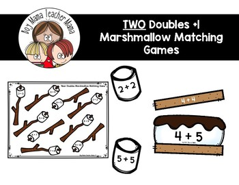 TWO Doubles +1 Marshmallow Matching Games