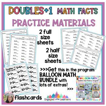 Doubles +1 Math Fact Fluency: Games, Teaching Materials, Worksheets & More