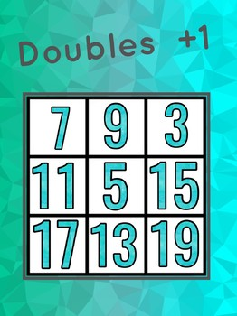 Doubles +1 bingo, maths, addition