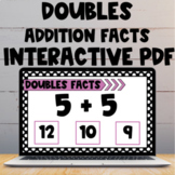 Doubles Addition Facts Interactive PDF and Boom Cards