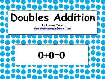 Doubles Addition Facts Power Point Presentation