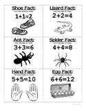 Doubles Addition Facts - flash cards