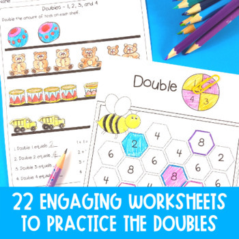 Doubles Facts Worksheets, Posters and Games