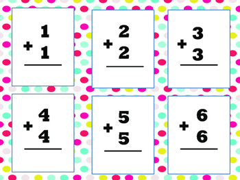 Doubles Addition Flashcards and Activities