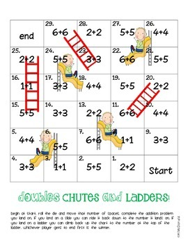 Doubles Addition Games- Sums to 12