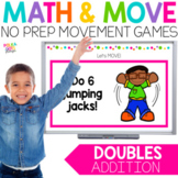 Doubles Addition Movement Game for Google(TM) and PowerPoi
