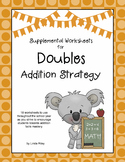 Doubles:  Addition Strategy Worksheets