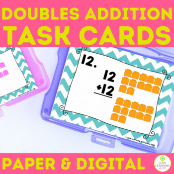 Addition Task SCOOT Cards Doubles Addition
