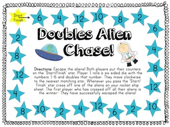 Doubles Alien Chase! A Maths Doubles Game