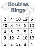 Doubles BINGO with 1 die {math center or math tub game}