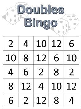 photograph regarding Printable Maths Bingo named Doubles Bingo Worksheets Training Elements Academics Pay back