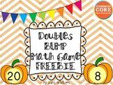 Doubles BUMP Math Game FREEBIE