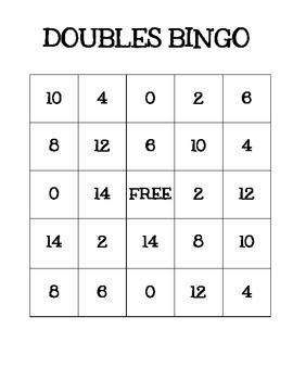 Doubles Bingo!