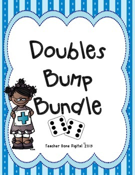 Addition Doubles Bump Math Game Bundle