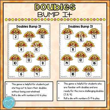 Thanksgiving Doubles Bump It