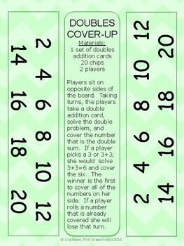 Doubles Cover Up: Doubles Addition to 12 and 20