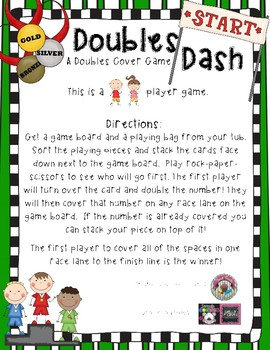 Doubles Dash- An Adding Double Cover Game
