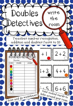 Doubles Detectives Write the Room *FREEBIE*