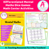 Mental Maths - Doubles - Dice Game - Differentiated & AC Linked Y1 -Y4