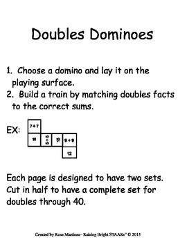 Doubles Dominoes