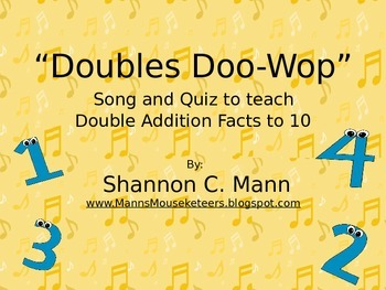 Doubles Doo-wop: Doubles Facts Through 20 (Song with audio and quiz)