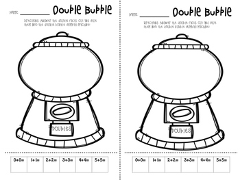 Doubles, Doubles +1 Student Worksheets