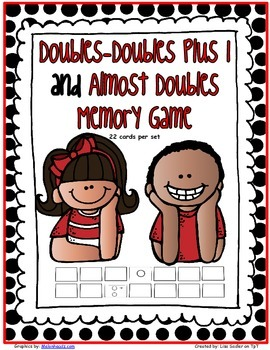 Doubles - Doubles Plus 1 and Almost Doubles MEMORY CARD GAME
